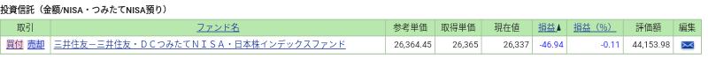 毎営業日積立 日本株式インデックスファンド
